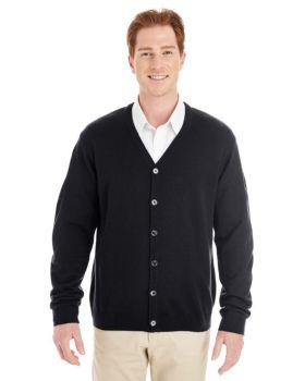 Harriton M425 Men's Pilbloc V Neck Button Cardigan Sweater