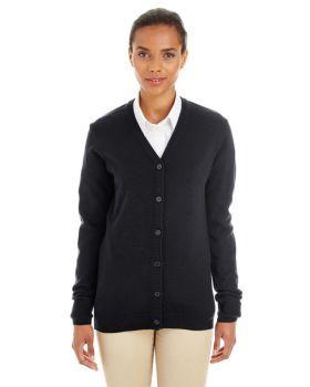 Harriton M425W Ladies' Pilbloc V-Neck Button Cardigan Sweater