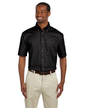 Harriton M500S Men's Easy Blend Short-Sleeve Twill Shirt withStain-Rele ...