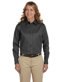 Harriton M500W Ladies Long Sleeve Easy Blend with Stain Release Twill Sh ...