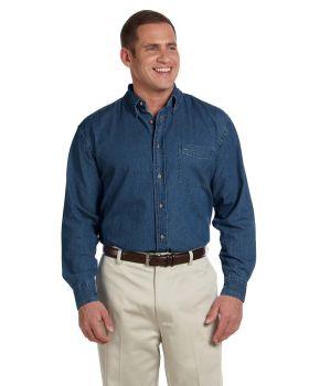 Harriton M550 Men's Long Sleeve Denim Shirt