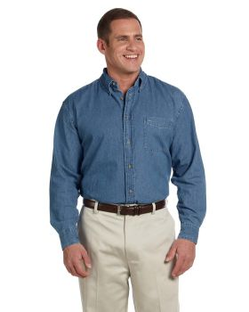 Harriton M550 Men's Long Sleeve Denim Shirt