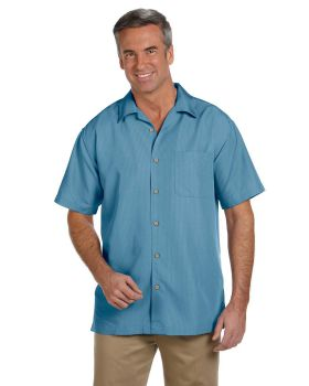 Harriton M560 Men's Barbados Textured CampShirt