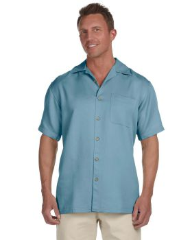 Harriton M570 Men's Bahama Cord Camp Shirt