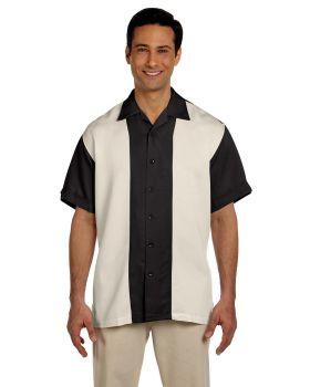 Harriton M575 Men's Two-Tone Bahama Cord Camp Shirt
