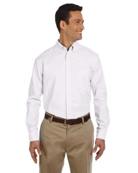 Harriton M600 Men's Long-Sleeve Oxford with Stain-Release