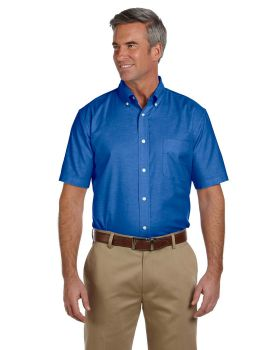 Harriton M600S Men's Short-Sleeve Oxford with Stain-Release
