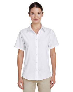 Harriton M610SW Ladies' Paradise Short-Sleeve Performance Shirt