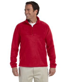 Harriton M980 Adult Polyester Quarter Zip Fleece Pullover