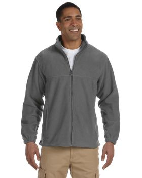 Harriton M990 Men's Full Zip Polyester Spun Soft Fleece Jacket