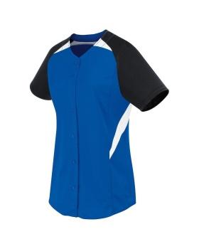 High 5 312172-C Ladies Galaxy Full Button Softball Jersey