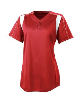 High 5 312193-C Girls Double Play Two-Button Softball Jersey