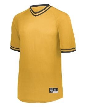Holloway 221221 Youth Retro V-Neck Baseball Jersey