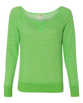 Independent Trading Co. PRM2400 Juniors' Wide Neck Sweaterfleece Crew