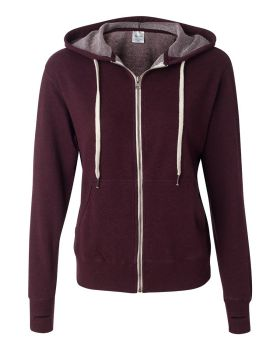 Independent Trading Co PRM90HTZ Unisex French Terry Heathered Hooded Ful ...