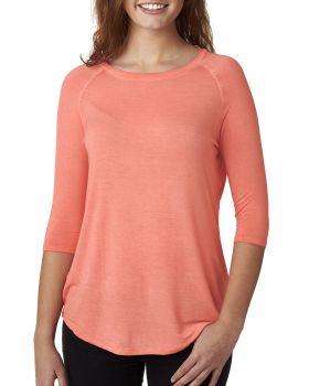 J America JA8232 Ladies' Oasis Wash 3/4-Sleeve T-Shirt