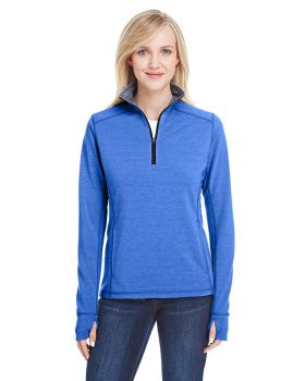 J America JA8433 Ladies' Omega Stretch Quarter-Zip