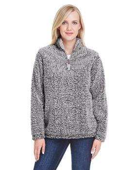 J America JA8451 Ladies Epic Sherpa One Quarter Zip Sherpa