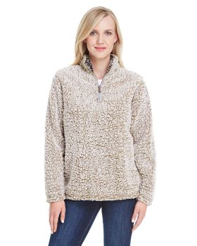 'J America JA8451 Ladies Epic Sherpa One Quarter Zip Sherpa'