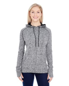 J America JA8616 Ladies Cosmic Contrast Fleece Hoodie