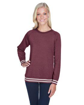 J America JA8652 Ladies Relay Crew Neck Sweatshirt