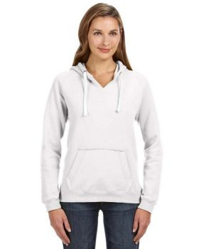 J America JA8836 Ladies' Sydney Brushed V-Neck Hood