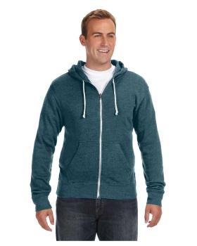 J America JA8872 Adult Triblend Full-Zip Fleece Hood