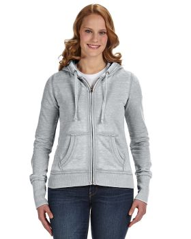J America JA8913 Ladies Zen Full Zip Fleece Hoodie