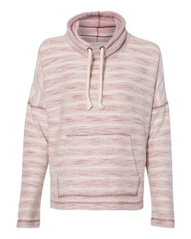 J. America 8693 Baja Women's French Terry Cowlneck Pullover