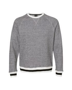 J. America 8702 Peppered Fleece Crewneck Sweatshirt