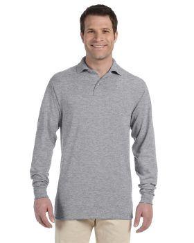 'Jerzees 437ML Adult SpotShield Long Sleeve Jersey Polo Shirt'