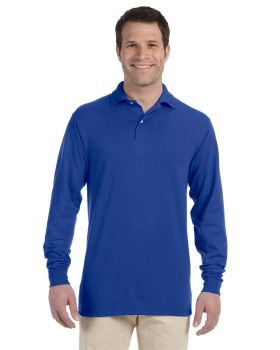 Jerzees 437ML Adult SpotShield Long-Sleeve Jersey Polo