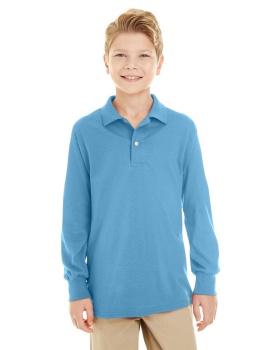 Jerzees 437YL Youth SpotShield Long-Sleeve Jersey Polo