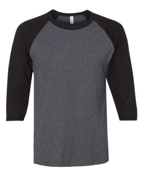 JERZEES 560RR Premium Blend Ringspun Three-Quarter Sleeve Raglan Basebal ...