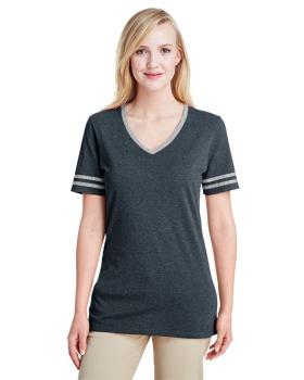 Jerzees 602WVR Ladies' TRI-BLEND Varsity V-Neck T-Shirt