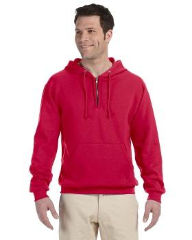 'Jerzees 994MR Adult NuBlend Fleece Quarter-Zip Pullover Hood'