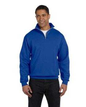 Jerzees 995M Adult NuBlend Quarter Zip Cadet Collar Sweatshirt