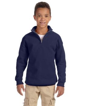 Jerzees 995Y Youth NuBlend 1/4-Zip Cadet Collar Sweatshirt