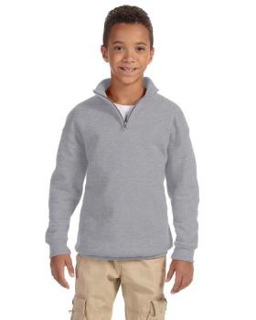 'Jerzees 995Y Youth NuBlend 1/4-Zip Cadet Collar Sweatshirt'