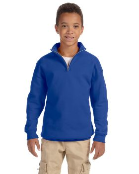 Jerzees 995Y Youth NuBlend 1/4-Zip Cadet Collar Sweatshirt