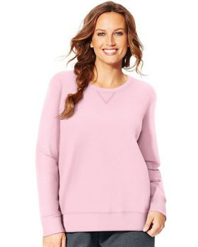 Just My Size OJ098 Women's Comfortsoft Ecosmart V Notch Crewneck Sweatsh ...