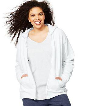 Just My Size OJ105 Women's Comfortsoft Ecosmart Fleece Full-Zip Hoodie