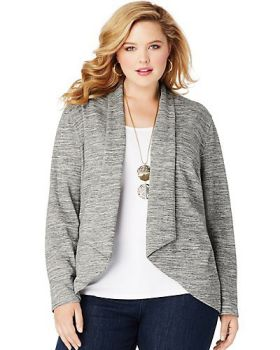 Just My Size OJ312 Women's Jms French Terry Flyaway Cardigan