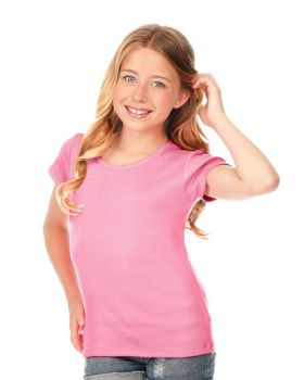 Kavio G1C0329 Girl's 7-16 Scalloped Scoop Neck Top