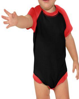 Kavio I1C0190 Infant Raglan Short Sleeve Bodysuit