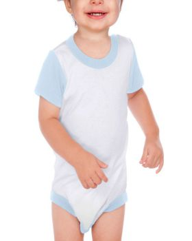 Kavio I1P0503 Infant Crew Neck Color Blck Onesie