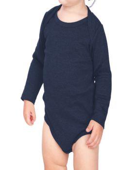 Kavio IIC0587 Infant Interlock Lap Shoulder Long Sleeve Bodysuit
