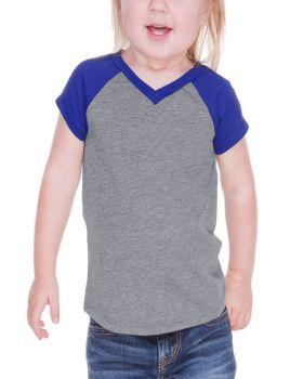 Kavio IJP0567 Infant Sheer Jersey V Neck Raglan Short Sleeve