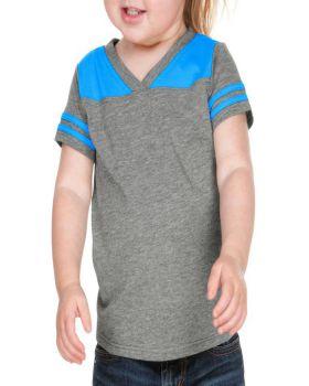 Kavio IJP0604 Infant Sheer Jersey V Neck Foot Ball Tee