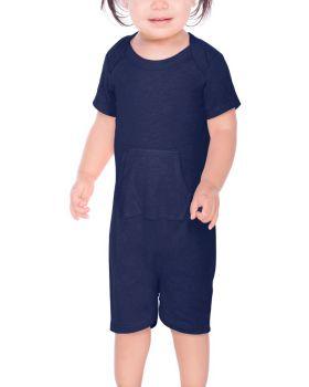 Kavio IJP0664 Infant Sheer Jersey Short Sleeve Romper